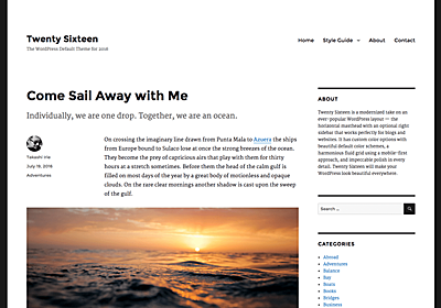Twenty Sixteen – WordPress Theme Review