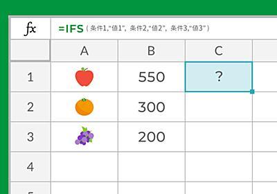 \ネスト地獄からの卒業/エクセルIF関数の複数条件「IFS関数」について考えました。   東京上野のWeb制作会社LIG