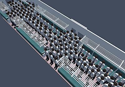 データサイエンスな日常:「満員電車で快適に過ごすための動き方」を物理シミュレーションで解き明かす(要約) - ITmedia NEWS