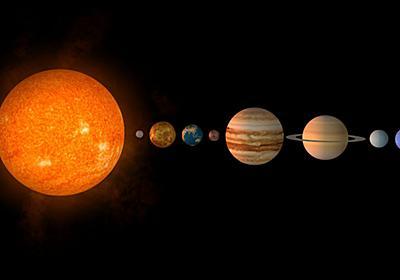 太陽系の各惑星の距離を対数スケールにすると均等な位置関係になっている - GIGAZINE