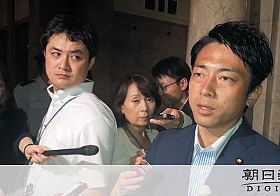 進次郎氏「名誉のブーイング」 参院6増賛成し野党から:朝日新聞デジタル