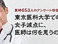 東京医科大学での女子減点に、医師は何を思うのか?【エピロギ】