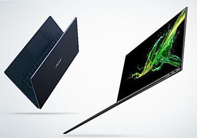 Acer、14型で890gの薄型軽量ノート「Swift 7」 - PC Watch