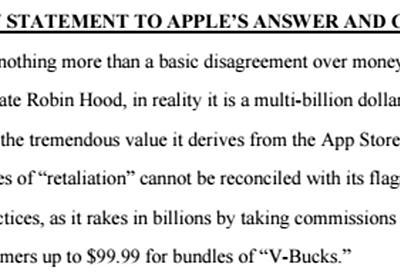 Apple、Epicを反訴「ロビンフッドを装う大金持ち」 - ITmedia NEWS