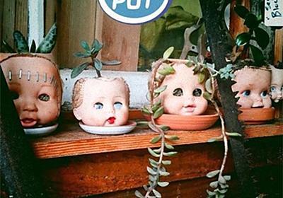 リサイクルではあるんだけども...使わなくなった人形を植木鉢代わりにするのが流行っているらしい... : カラパイア