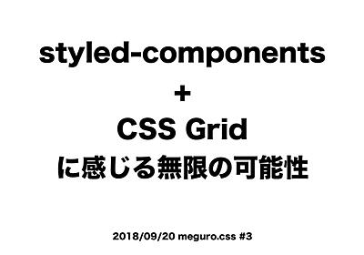 styled-component + CSS Grid - Speaker Deck