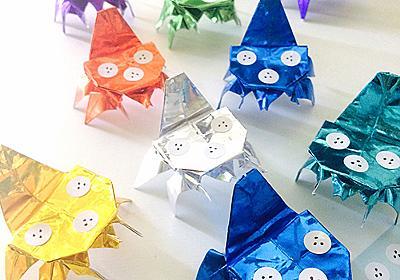 しょく~ん! タチコマが折り紙で作れるよー! 「マチ★アソビ」「がたふぇす」「IGストア」で折り方リーフレットをプレゼント - ねとらぼ