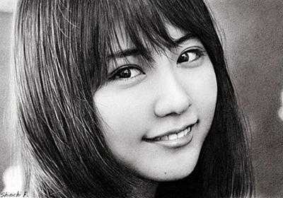 写真を超えた鉛筆画、ぺン1本で描く女優たち 作者「身を削る思い」 - withnews(ウィズニュース)