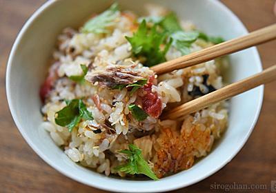 おかわり必至な美味しさ!さば缶と梅干しの炊き込みご飯のレシピ/作り方:白ごはん.com