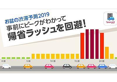 「Yahoo!カーナビ」でお盆の渋滞予測を配信、高速道路の混雑状況を時間帯ごとにチェック - ケータイ Watch