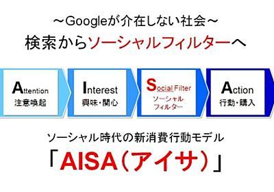 2012年Googleが介在しない社会『AISA(アイサ)』〜ソーシャル時代の新消費行動モデル - (旧)ガイアックスソーシャルメディア ラボ