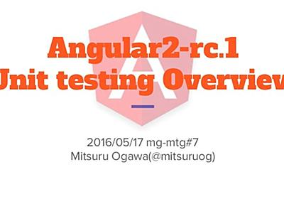 Angular2 rc.1 unit testing overview