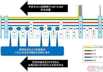 日本初!各停の車内放送でポイント付与 アプリ「KQスタんぽ」で特急混雑緩和へ 京急 | 乗りものニュース