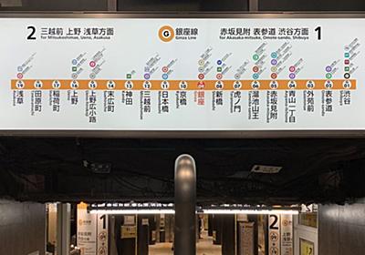 「これは間違える」銀座駅ではじめて『逆方向の電車に乗る』というミス…その原因はホーム手前の案内板にあった→一晩で修正!