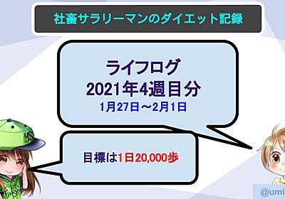【サラリーマンのダイエット記録】1月27日〜2020年2月1日分【ライフログ2021年4週目】 - ウミノマトリクス