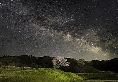 DxO PureRAW と Topaz Sharpen AI を使って,星景写真を現像し直してみた【桜と天の川】 - sunsun fineな日々