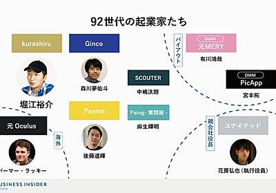 「光の92世代」1992年生まれが起業する理由。目指すは「メイクマネー」ではない | BUSINESS INSIDER JAPAN