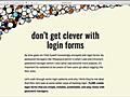 ログインフォームは変わった方法で実装しないで! | コリス