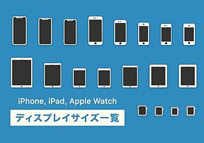 iPhone, iPad, Apple Watch ディスプレイサイズ一覧|Seiji Miyazawa|note