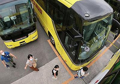 行く手を阻むバス、バス… 60台で巨大迷路 コロナ禍逆手に「はとバス」企画 - 毎日新聞