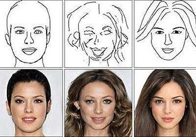 手書きスケッチからリアル顔画像を作成、深層学習で「DeepFaceDrawing」 | Seamless