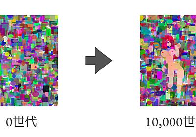 最高にエッチな画像が遺伝的アルゴリズムで生み出される様子を見て反省する日々 - 本しゃぶり
