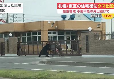 「クマって自衛隊員より強いんだ」札幌の市街地にヒグマ出現、門番をしばき倒して駐屯地に突入してしまう - Togetter