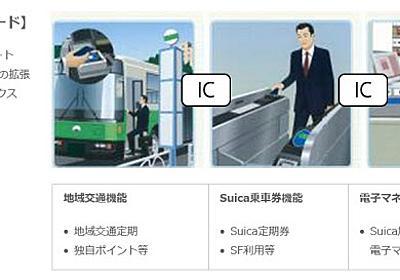 地域交通ICカードとSuicaを1枚に、JR東日本らが着手  :日本経済新聞