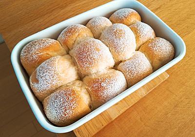 週末朝ごはん + ホームベーカリーパンサークル⑦・・・練乳ちぎりパン - 葉月日記
