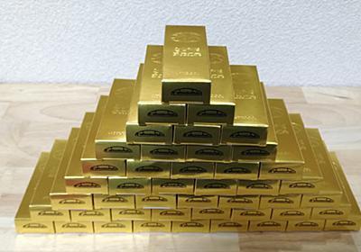 福助製菓のゴールドチョコレート(1箱45個)を子供がもらってきた