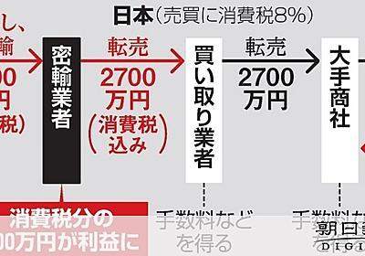 密輸の金、商社経由し海外へ 国の損害、年640億円か:朝日新聞デジタル