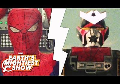 The giant robots of the 1970's Japanese TV Spider-Man | Earth's Mightiest Show Bonus - YouTube