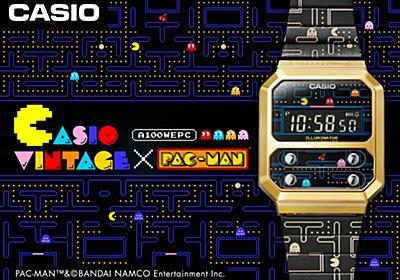 カシオ、デジタルウォッチ復刻モデルにパックマンコラボ!「A100WEPC」8月21日発売 - GAME Watch