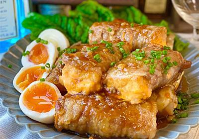 【レシピ】チーズ厚揚げの甘辛肉巻き - しにゃごはん blog