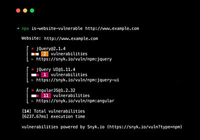 GitHub - lirantal/is-website-vulnerable: finds publicly known security vulnerabilities in a website's frontend JavaScript libraries