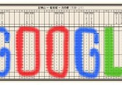 今日のGoogleロゴは「日本初の時刻表 出版121周年」 - MdN Design Interactive - デザインとグラフィックの総合情報サイト
