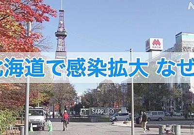 新型コロナ なぜ北海道で感染増加?気温と湿度の関係か | 新型コロナウイルス | NHKニュース