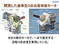「ロボット技術に革命が起きる」山形大学の多田隈研究室が開発した『歯車型3自由度球面モータ』がすごすぎて理解が追いつかないレベル - Togetter