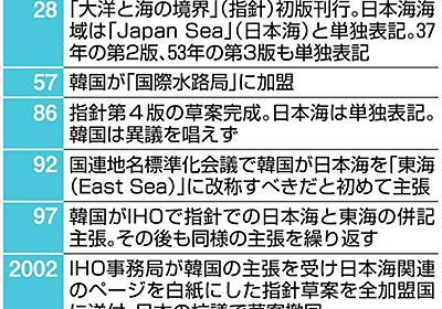日本海呼称変更めぐり日韓朝が非公式協議へ 東海改称や併記現実化の懸念も(1/2ページ) - 産経ニュース