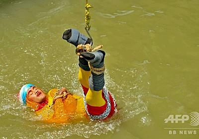 水中脱出に失敗し死亡したマジシャン、自殺の可能性も 警察が捜査 写真2枚 国際ニュース:AFPBB News