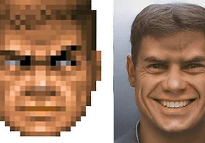 ニューラルネットワークで「DOOM」の主人公を「リアル化」して笑顔を取り戻すことに成功 - GIGAZINE