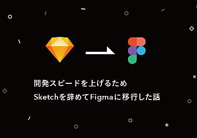 開発スピードを上げるため、Sketchを辞めてFigmaに移行した話 - fujiken design blog