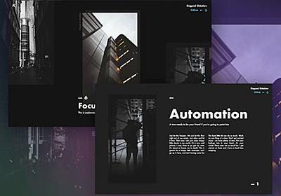斜めに動く、ダイナミックなスライダー「Diagonal Slideshow」 | DesignDevelop