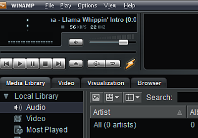 あの「Winamp」がついに復活! v5.8のベータ版が公式サイトからダウンロード可能に - 窓の杜