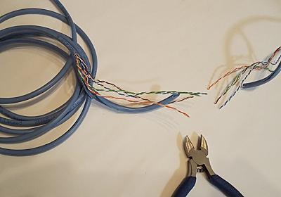 LANケーブルをニッパーで切断し5秒でネットワークへ侵入・盗聴できるか実験してみました - DARK MATTER