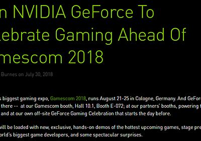 【やじうまPC Watch】NVIDIA、8月20日に「あっと驚くサプライズ」の発表を予告 ~次世代GeForce発表か? - PC Watch