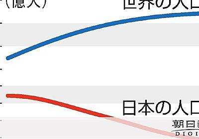 日本の人口、2100年に7500万人 減少見通し加速:朝日新聞デジタル