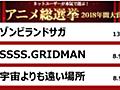 【結果】ネットユーザーが本気で選ぶ!アニメ総選挙2018年間大賞 - ニコニコアンケート