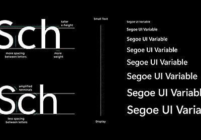 システムフォント「Segoe UI」が可変フォントに ~Dev版Windows 10 Build 21376でテスト中 - 窓の杜
