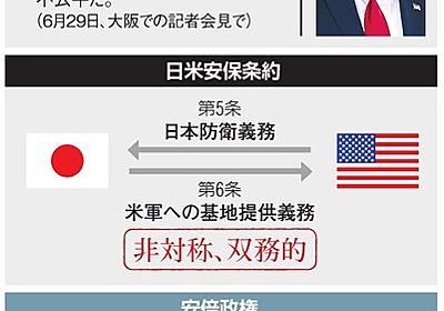 日米安保は「不公平」か 双務性と対称性 - 2019参議院選挙(参院選):朝日新聞デジタル